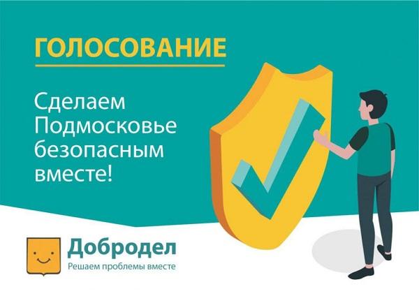 Стартовало голосование «Сделаем Подмосковье безопасным вместе!»