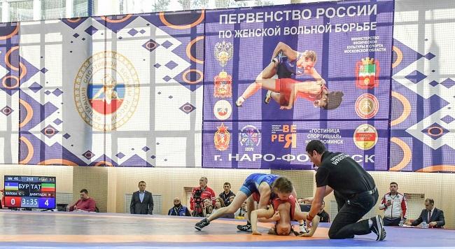 Заключительный день Первенства России по вольной борьбе среди девушек